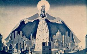 Madonna Sargātāja. Nikolaja Rēriha glezna, 1933.gads